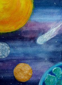 Comet over Venus