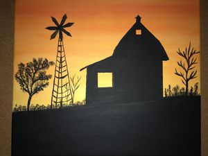 Shadowed Texas Barn