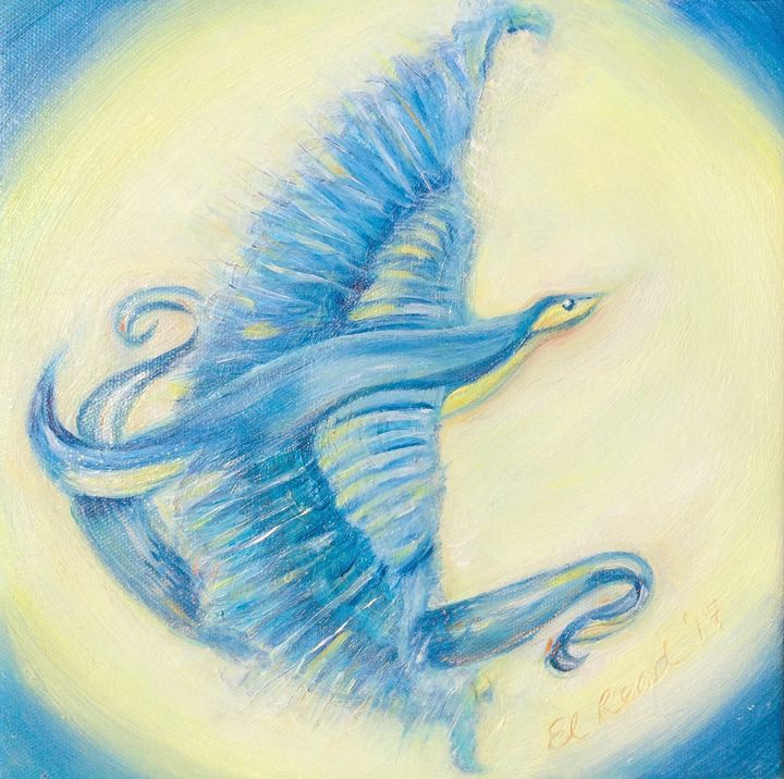She flies with the moon on her wings - Ellery Gallery