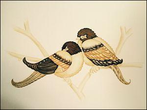 Sleeping Love Birds - Ellery Gallery