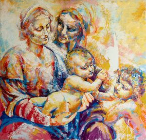 Virgin & Child with St. Anne and... - Vale Kardamski