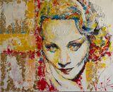 Marlene Dietrich - Original Painting
