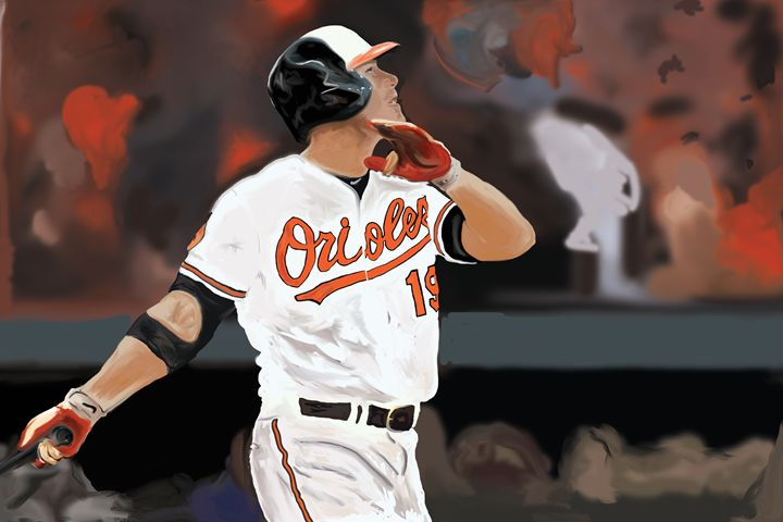 The Home Run Swing - Paintings