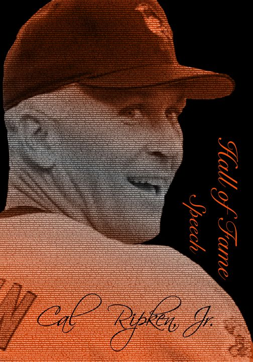 Cal Ripken, Jr. Typopgrahy Portrait - Paintings