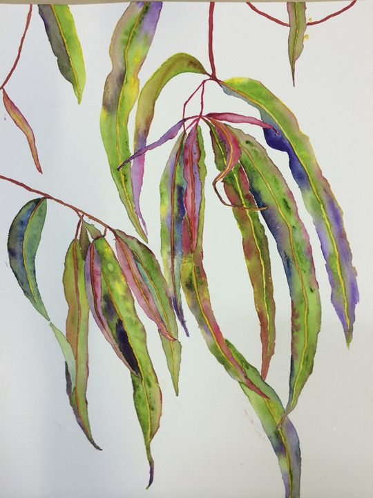 Colourful Gum Leaves - Wendy's Art