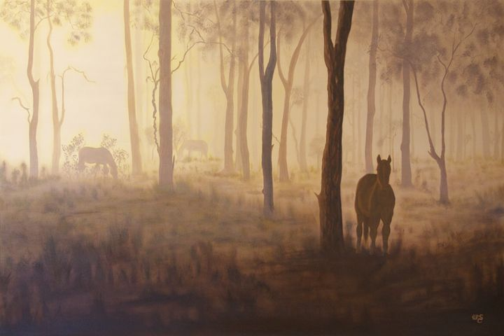Horses in the Mist - Wendy's Art