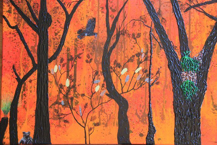 Bushfire Escape - Wendy's Art