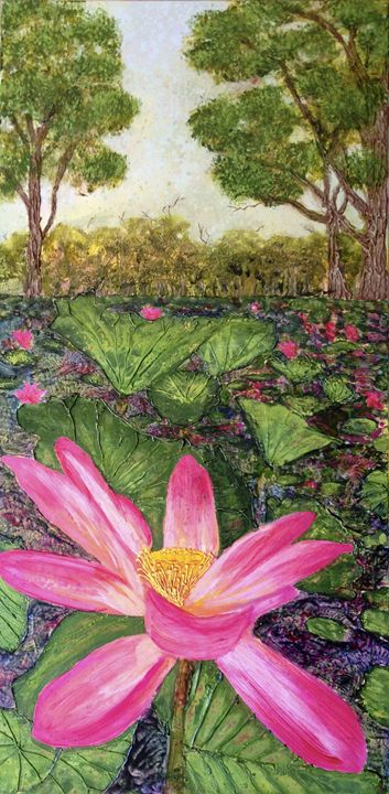 Red Lilly Billabong - Wendy's Art