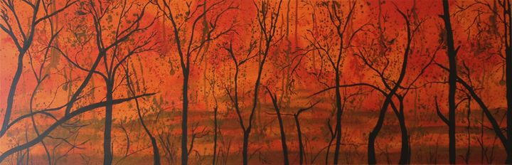Bushfire Silhouette - Wendy's Art