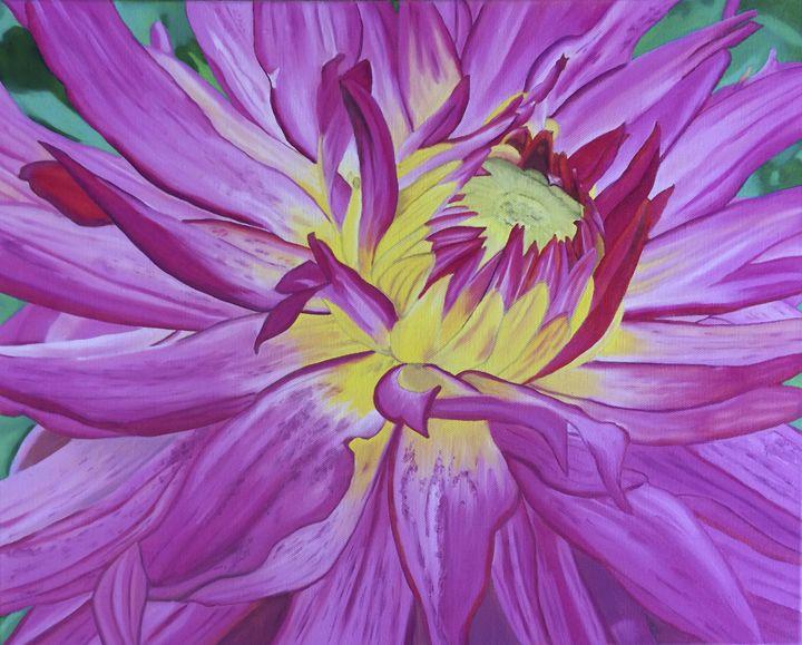 Dazzling Pink Dahlia - Wendy's Art