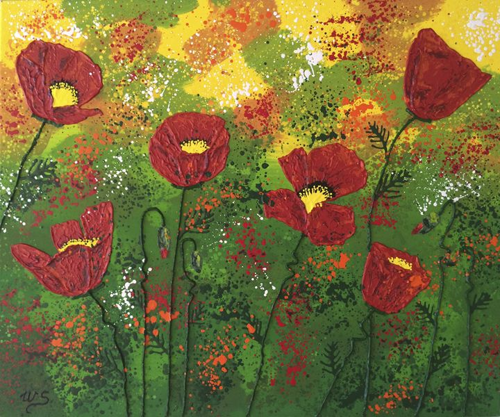 Red Poppy Bonanza - Wendy's Art