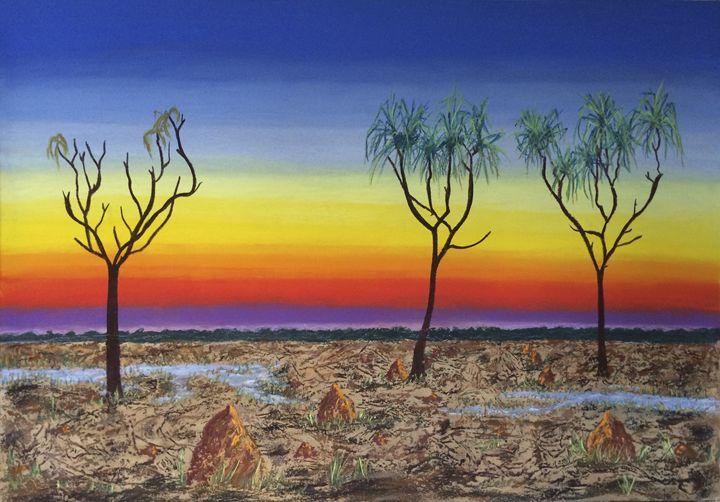 Kakadu Floodplain Sunset - Wendy's Art