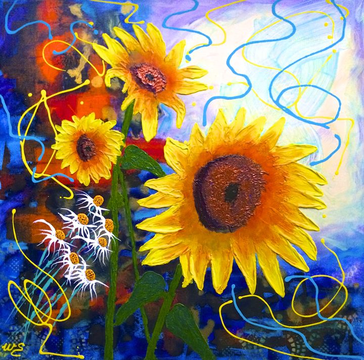 Sunflower Tango - Wendy's Art