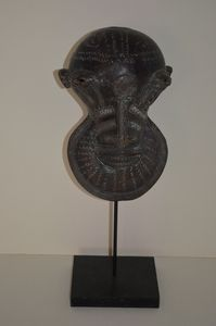 African bronze alloy mask