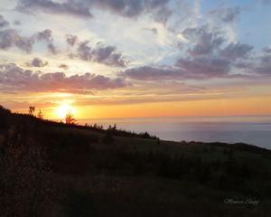 Sunset Over Cape George