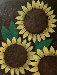 Sunflowers night