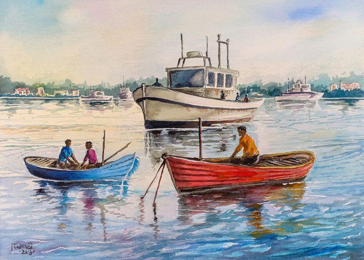Boats on Lake victoria - Anthony Mwangi