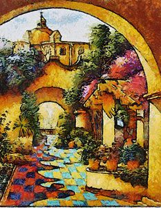 Callejon con Flores - Trompiz Gallery