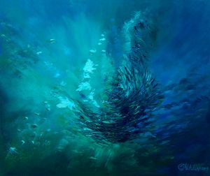 Abstract Underwater Painting