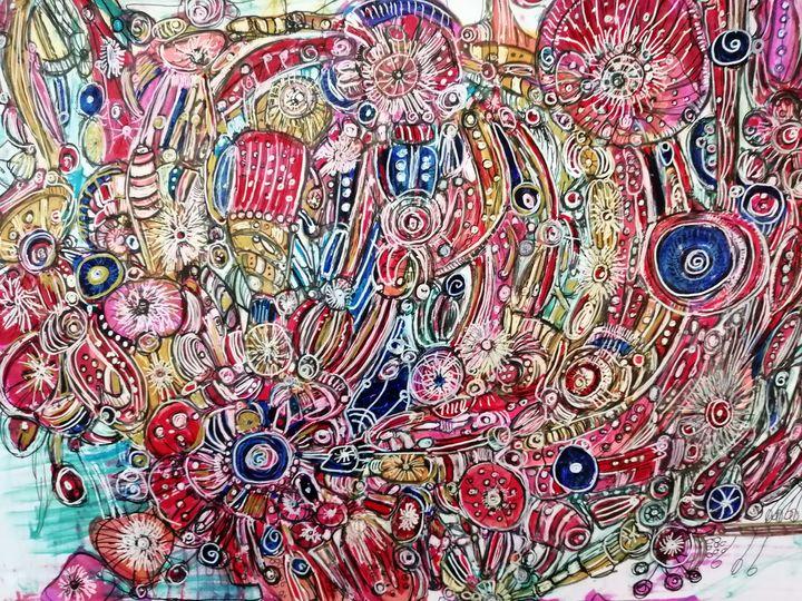 Embroidered flowers - Fiona Sutherland Muir