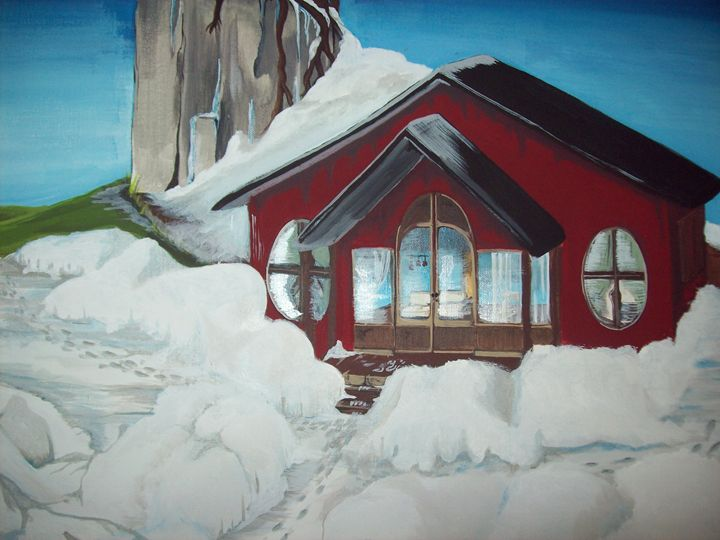 Snow house mountain - Graphicsandpigments