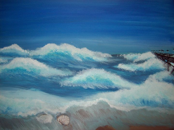 Beach waves - Graphicsandpigments