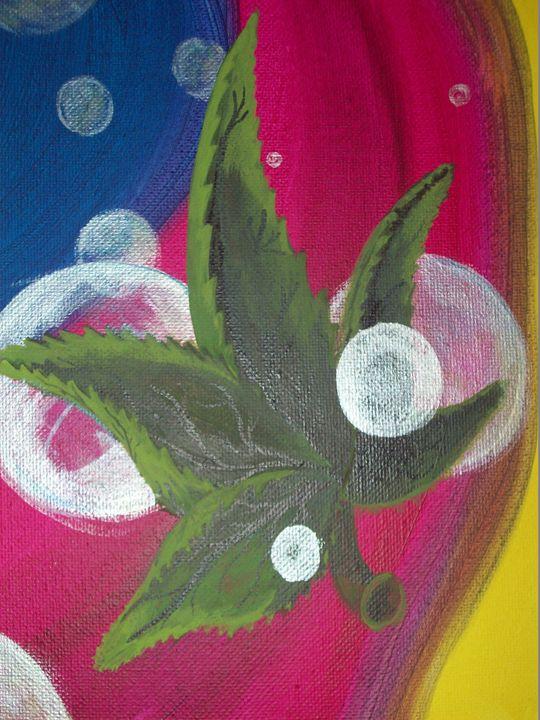 Psychadelic Pot Leaf - Graphicsandpigments