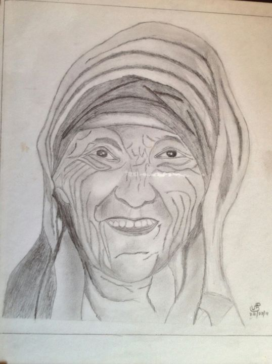 Mother Teresa - pencil sketches