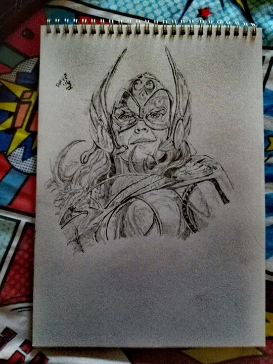 Lady Thor - Drawings By A Bloke Called Dave