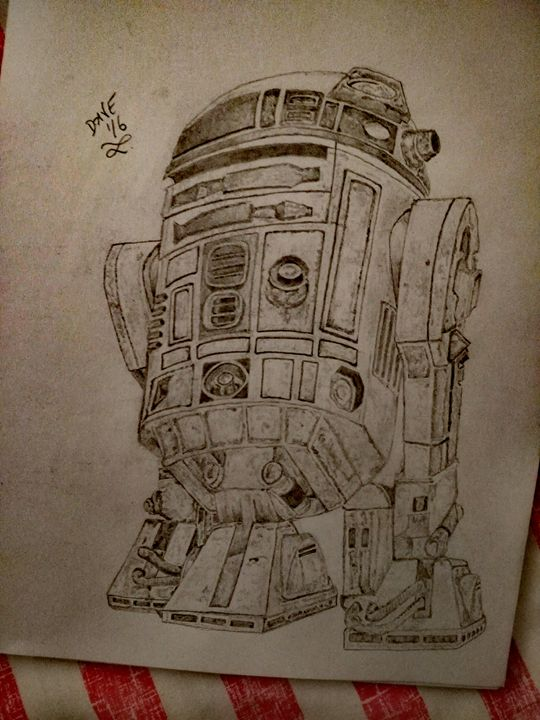 R2 D2 - Drawings By A Bloke Called Dave