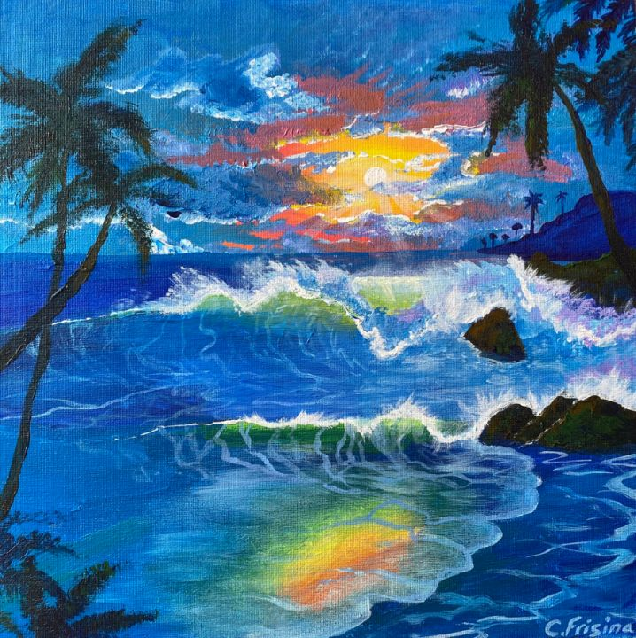 Rainbow Sunset Beach - Carolan Frisina
