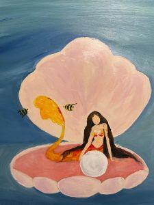 Mermaid Clam Shell