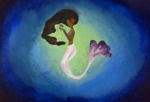 Underwater Mermaid and Fish Painting
