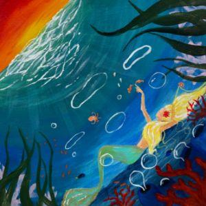 Underwater Mermaid Painting