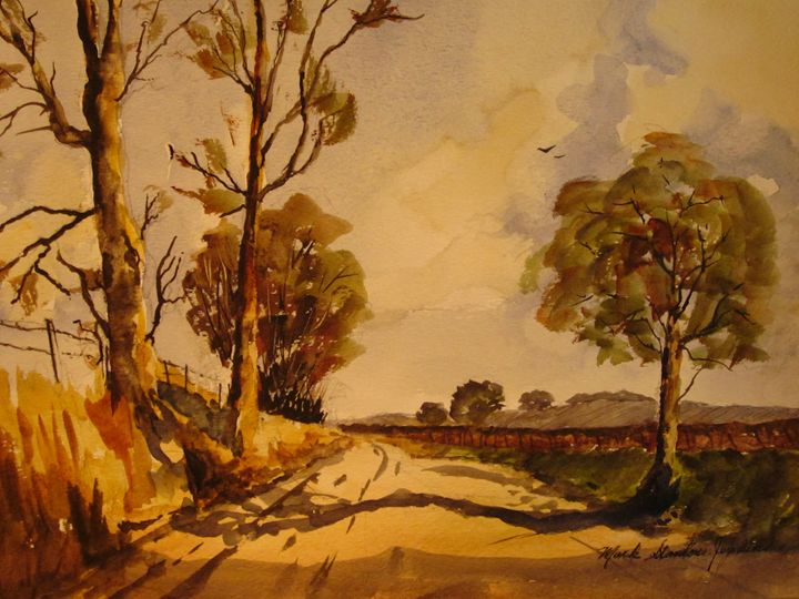 Country Rd., Napa 277 - Mark Jenkins Watercolors