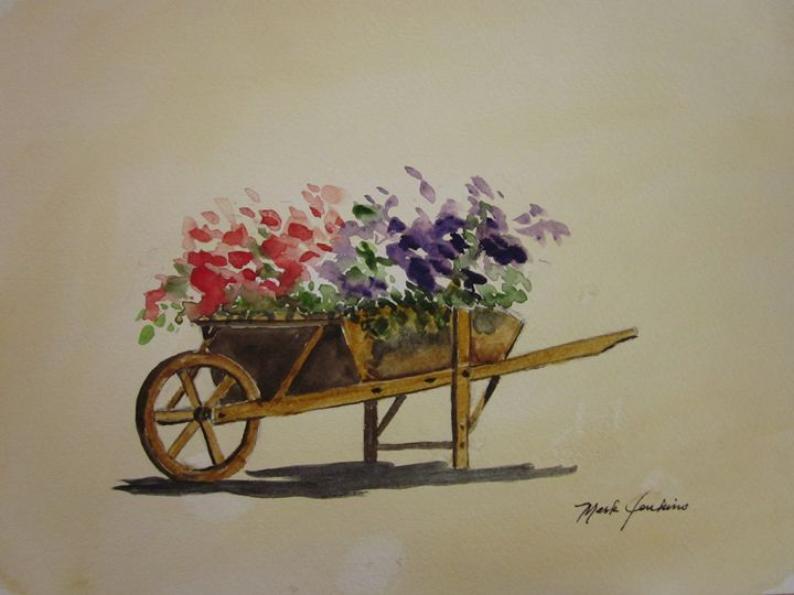 Flower Cart 654 - Mark Jenkins Watercolors