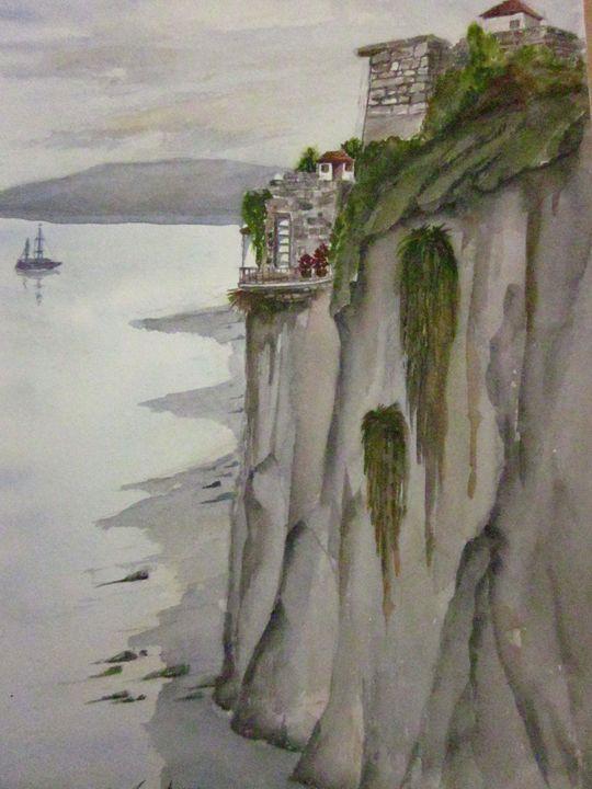 Cliff Side 650 - Mark Jenkins Watercolors