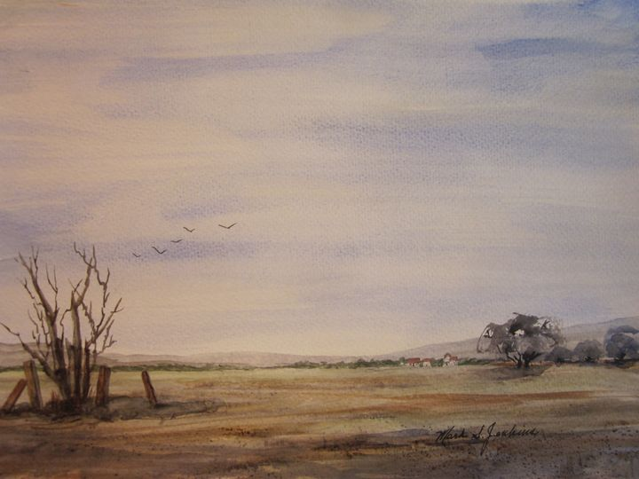 Farm Land, Idaho 519 - Mark Jenkins Watercolors