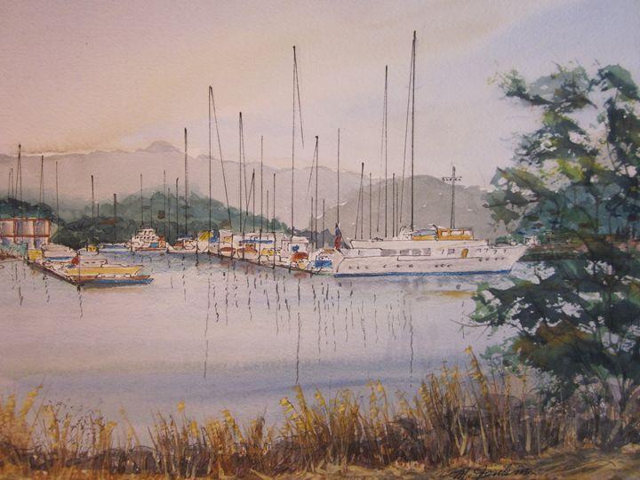Redwood Ciry Marina 453 - Mark Jenkins Watercolors