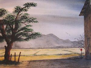 Farm Field - Mark Jenkins Watercolors