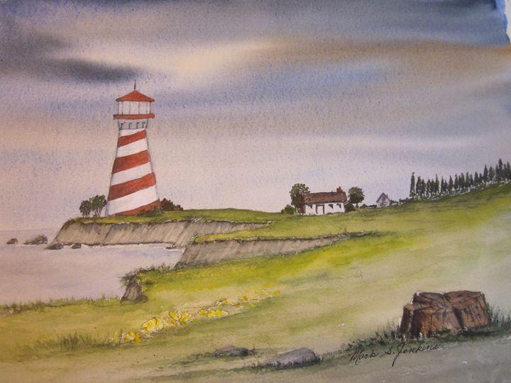 Lighthouse 430 - Mark Jenkins Watercolors