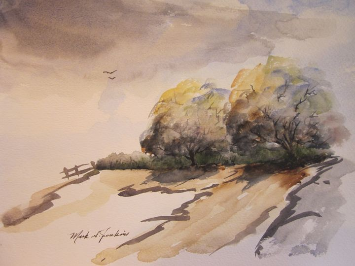Hillside  543 - Mark Jenkins Watercolors