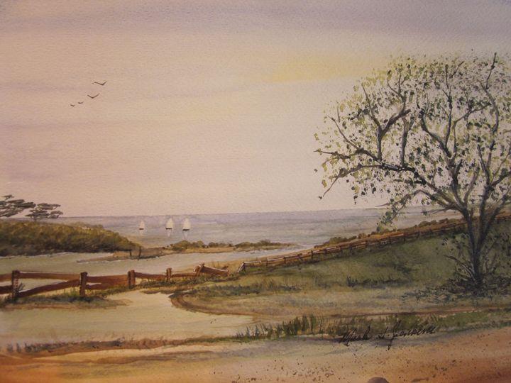Ocean Side 536 - Mark Jenkins Watercolors