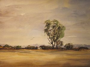 A Three Forks Field, Montana 260 - Mark Jenkins Watercolors