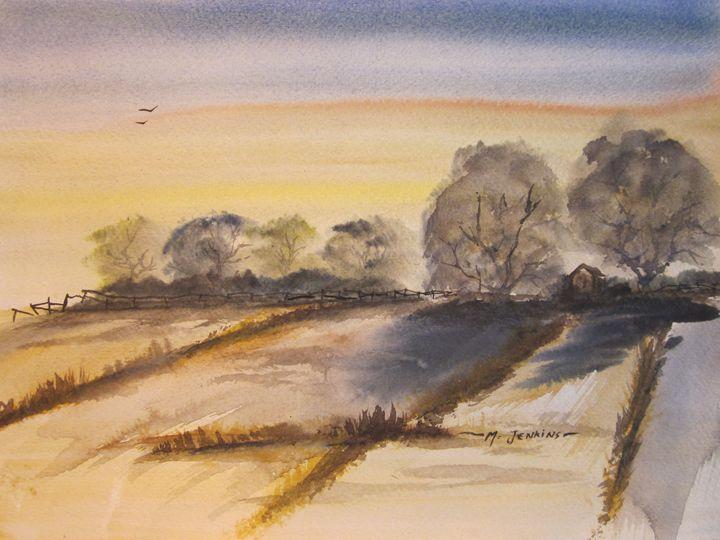 Country Field 310 - Mark Jenkins Watercolors