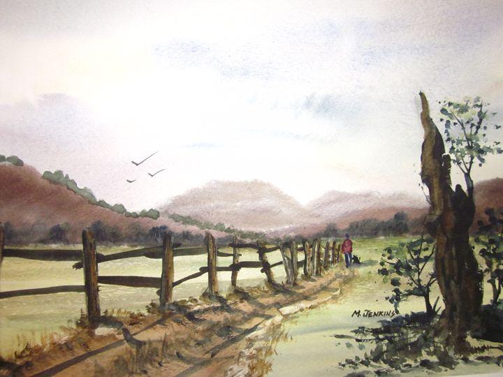 Country Walk 598 - Mark Jenkins Watercolors