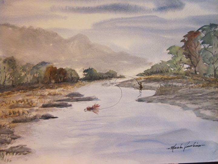 Montana Stream 321 - Mark Jenkins Watercolors
