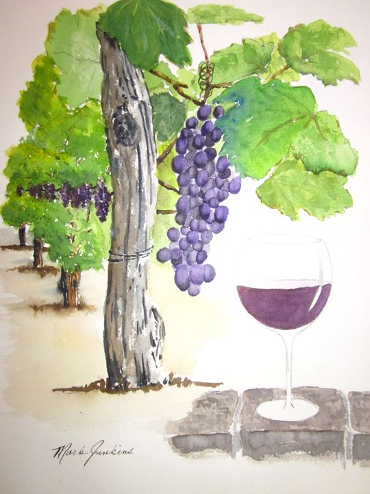 Napa Wine 593 - Mark Jenkins Watercolors