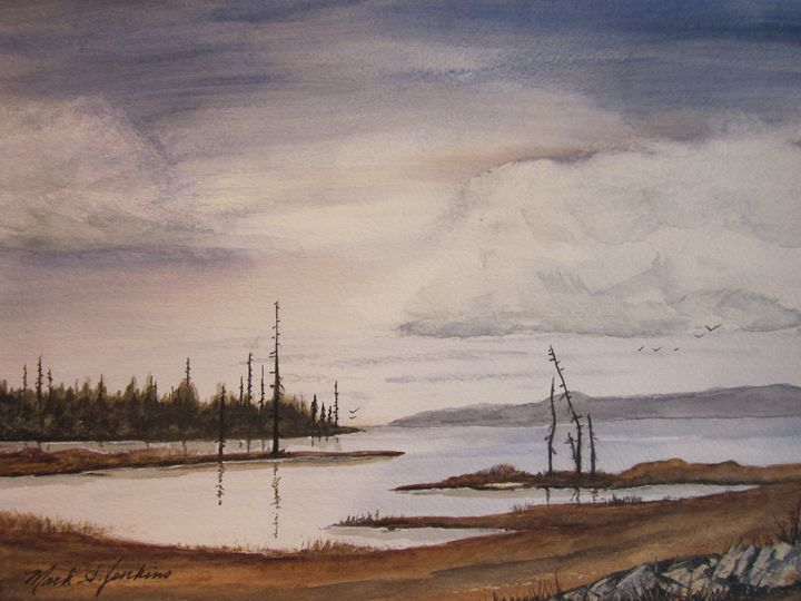 Bay Flats 3 339 - Mark Jenkins Watercolors