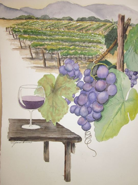 Napa Wine 592 - Mark Jenkins Watercolors